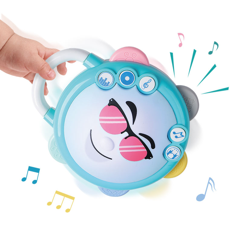 Rattle Toys Baby Toys Beating Drum Tambourine Lighting Music Little DJ Gift 6 Months+ Souptoys Enlightenment Toys 13 24 Months
