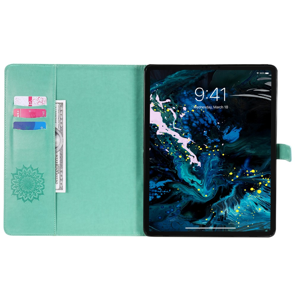 Case Leather iPad 9 Pro Flower 3D Skin 2020 Embossed Cover Protective for Shell 12