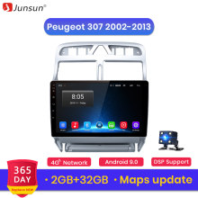 Junsun V1 2G + 32G Android 9.0 For Peugeot 307 2002 2008 - 2013 Car Radio Multimedia Video Player Navigation GPS 2 din dvd(China)