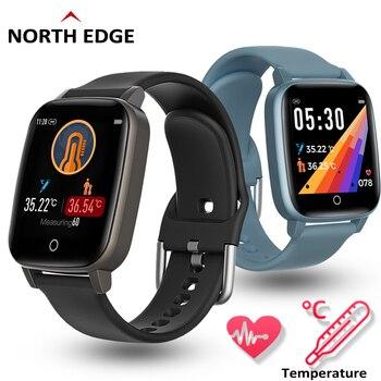 Digital Watch Men NORTHEDGE Outdoor Sport Wristwatches Temperature Measuremen Bracelet Stop relogio masculino 2020