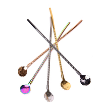 Coffee-Spoon Ice-Cream Dessert Kitchen-Accessories Long-Handled Stainless-Steel for Picnic