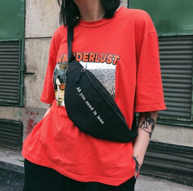2019 Waist Bag Women Belt Bag Waist Bag Hip-Hop Print Letter Fanny Pack Print Letter Hip Bum Bag For Travel