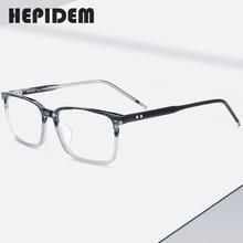 Acetate Glasses Frame Men Square Nerd Prescription Eyeglasses New Male Myopia Optical Frame Korean Clear Spectacles Eyewear