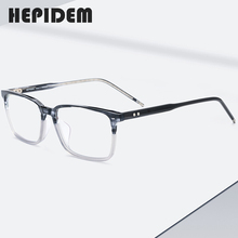 אצטט משקפיים מסגרת גברים כיכר Nerd מרשם משקפיים חדש זכר קוצר ראיה מסגרת אופטית קוריאני ברור משקפיים Eyewear