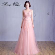 Wedding Party Dress Appliques A-line Formal Prom Gown vestido de noite Long Dresses
