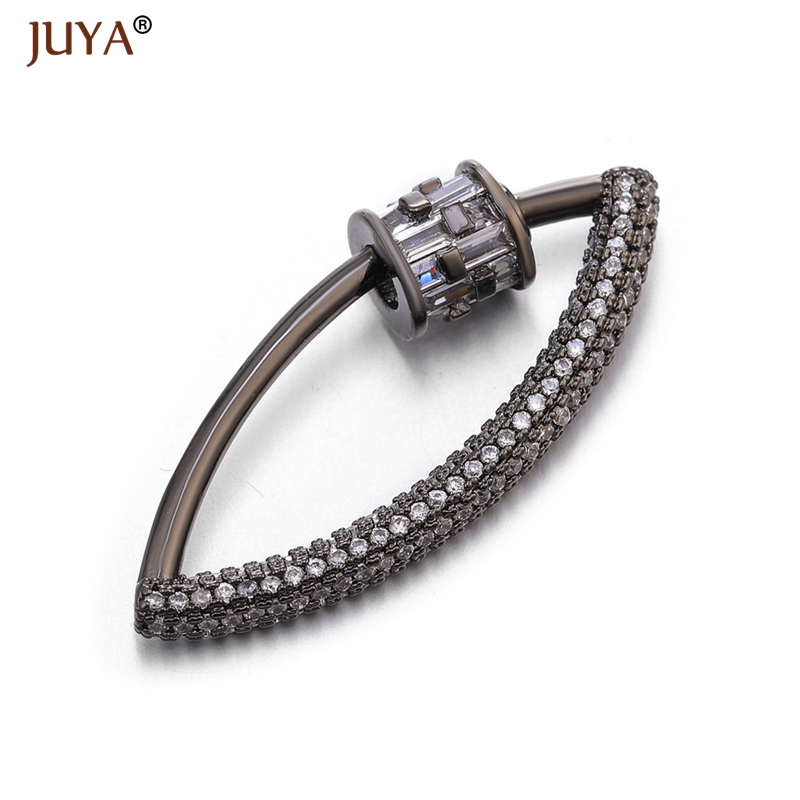 Аксессуары для ювелирных изделий ручной работы, трендовые циркониевые кристаллы, спиральные застежки для изготовления ювелирных изделий, подвески, новейший дизайн - Цвет: Black