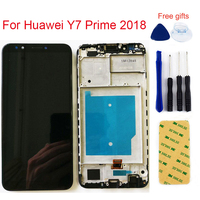 For Huawei Y7 Prime 2018 LDN LX1 / LDN L21 LCD Display Monitor Panel + Touch Screen Digitizer Sensor Glass Assembly + Frame