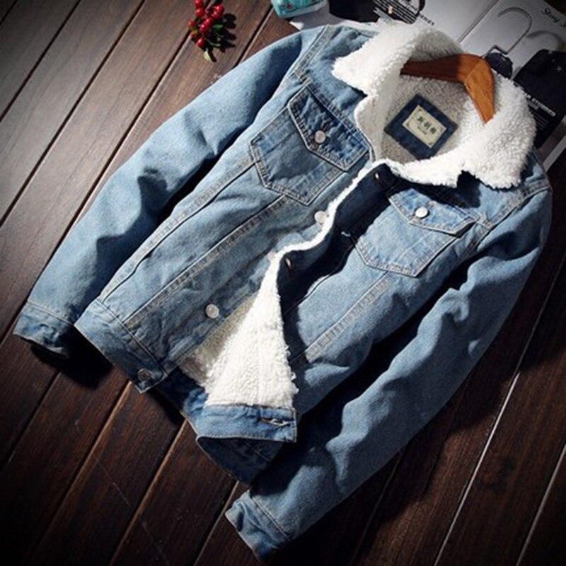 ZOGAA Men Denim Jacket Coat Cowboy Trendy Warm Fleece Denim Jacket 2019 Winter Fashion Thicken Mens Jean Jacket Outwear Male