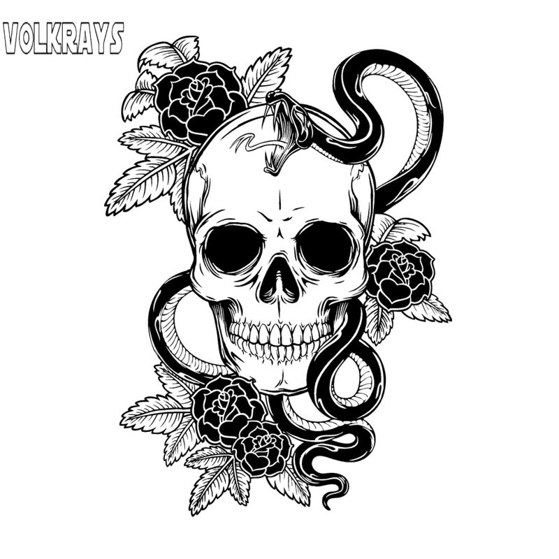 Volkrays Presonality Car <font><b>Sticker</b></font> Venom Skull Accessorie Sunscreen PVC Decal for Motorcycle Lada Mazda 3 Subaru <font><b>Golf</b></font> <font><b>4</b></font>,18cm*12cm image