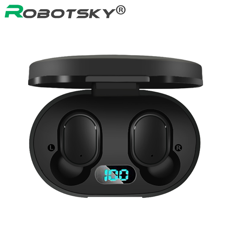 A6L TWS Bluetooth 5.0 Wireless Earphones LED Display Automatic Pairing Headset IP67 Waterproof Stereo Noise Reduction PK A6S