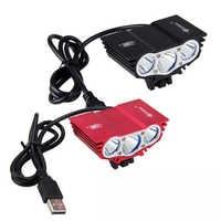 Étanche 3XT6 LED lumière de vélo 10000LM avant vélo phare nuit vélo lampe 5V USB phare seulement lampe pas de batterie