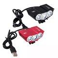 Wasserdicht 3XT6 LED Fahrrad Licht 10000LM Vor Fahrrad Kopf Licht Nacht Radfahren Lampe 5V USB Scheinwerfer Nur Lampe Keine batterie|Fahrradlicht|Sport und Unterhaltung -