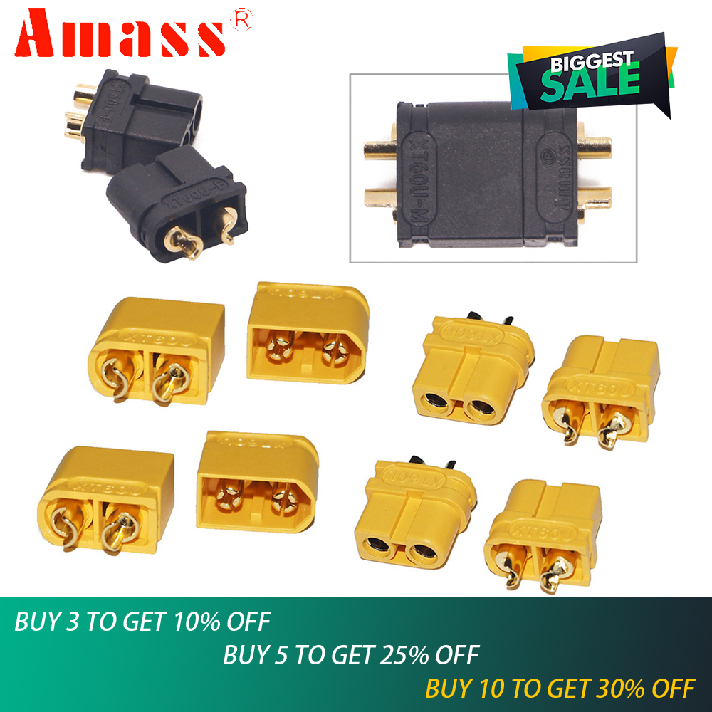 5pair Amass Connectors XT60U Male Female Bullet Connectors For Lipo Battery(Upgraded XT60)