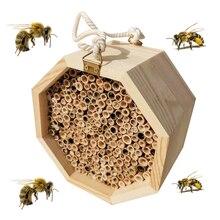 Камень пчелиный дом, многоразовая коробка, Натуральный Бамбуковый улей ручной работы, привлекает мирных опылителей пчел