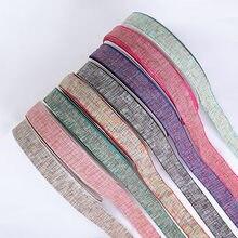 10 15 25 38mm coton lin rubans à la main matériel pour Bouquet cadeau emballage cheveux arc fête poupée vêtements décoration ruban charpie