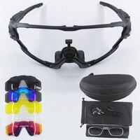 9270 顎スタイル 5 レンズサイクリングメガネ mtb フォトクロミックスポーツサングラス偏バイクメガネマルチフレーム -