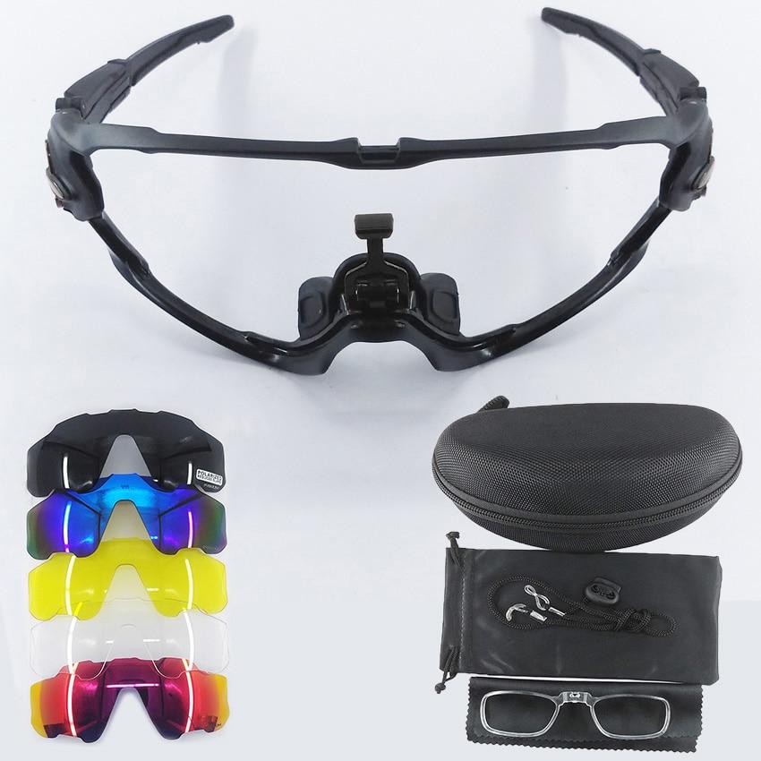 9270 Jaw Style 5 Lens Cycling Glasses MTB Photochromic Sports Sunglasses Polarized Bike Glasses Multi Frame
