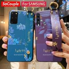 SoCouple – coque de téléphone Samsung avec dragonne, étui pour Galaxy A51 50 70 71 20 30 40 21s S20 FE S9 S10 Plus Note 10 20 S21 Ultra