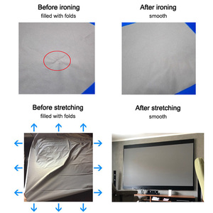 Image 4 - Proiettore schermo semplice anti luce per tende 60 72 84 100 120 pollici proiezione 3D portatile per ufficio esterno a casa