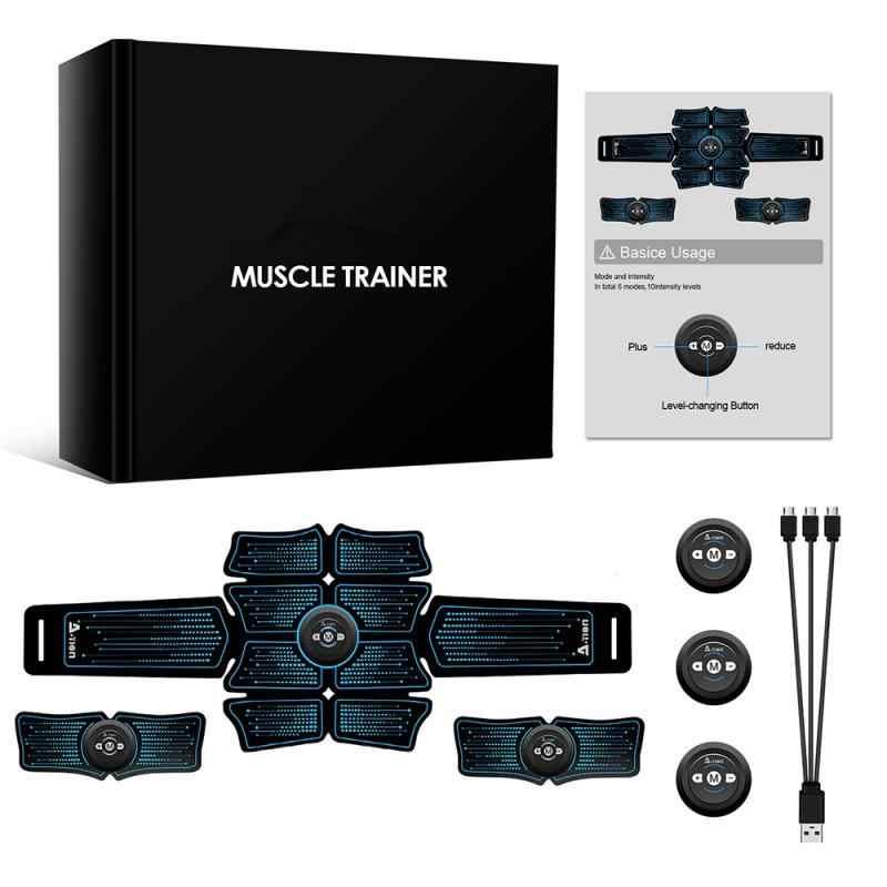USB Recharge Nirkabel Perut Otot Stimulator Ems Smart Gym Kebugaran Latihan Electric Massager Pelangsing Tubuh Sabuk # SD