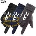 Daiwa толстые бархатные термальные перчатки для рыбалки мужские походные уличные перчатки для рыбы противоскользящая полная одежда с застеж...