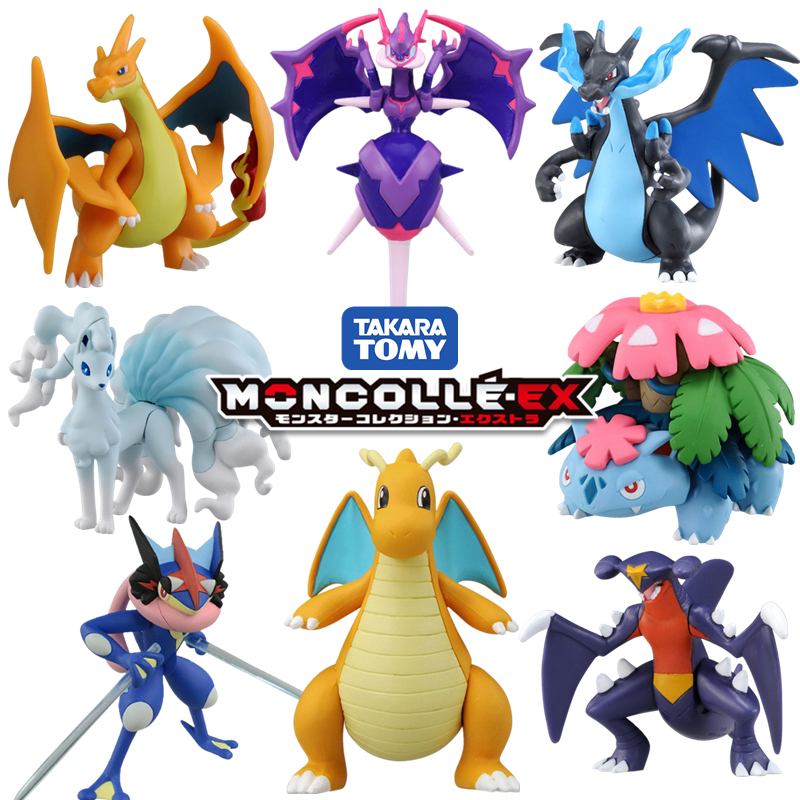 tomy tomica moncolle ex pokemon figures toys diecast resin pocket monster anime mould hot pop baby toys funny magic kids dolls