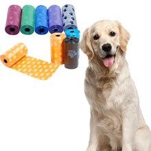 100 шт, Разлагаемый мешок для собачьих какашек, экологически чистый, герметичный, для домашних животных, для уборки, сменный рулон, мешок для мусора, кошачьего туалета, для дома на открытом воздухе