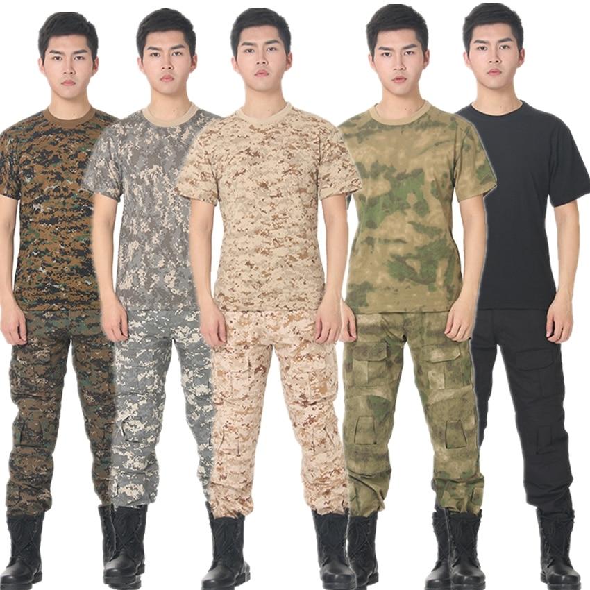 Summer Desert & Jungle Tactical Clothing For Men Military Uniform Camouflage Tops Combat Airsoft Short Shirts Warrior War Game