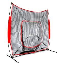 Filet d'entraînement de Baseball Softball de 7x7 pi avec cadre frappant la Zone de frappe des aides d'entraînement