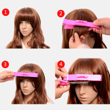 Nieuwe Vrouwen 1Pc Professionele Kapsel Heerser Tondeuse Schaar Pony Clipper Diy Trim Pony Haarspelden En Clips(China)