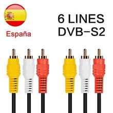 2021 die Meisten Stabile linien für Europa 4 linie Satellite tv Empfänger 4 Clines WIFI VOLLE HD DVB-S2 Unterstützung Ccams