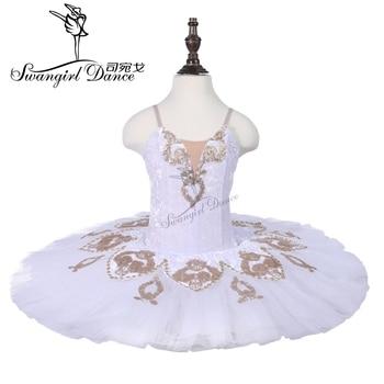 Child white nutcracker performance stage dance costume tutu women ballerina tutu skirts for kids 18001