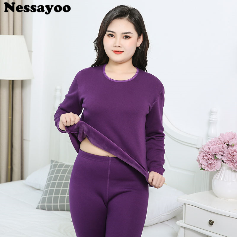 Plus Size M-5XL Couple Keep Warm Pajamas Suit Winter Thermal Underwear Casual Lovers Body-shaping Long Johns Tops Bottom Clothes