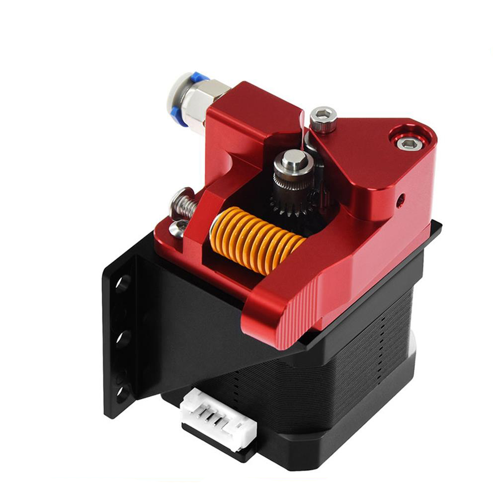 Aluminum Upgrade Dual Gear Mk8 Extruder for Extruder CR10 CR-10S PRO RepRap 1 75mm 3D Parts Drive Feed double pulleyc