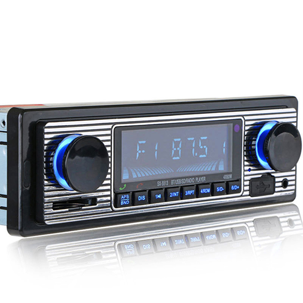 Aux MP3 Player Vintage Stereo Radio Music USB LCD Display Bluetooth Car Classic FM Audio image