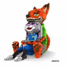 hot LegoINGlys creators cartoon Zootopias nick fox judy rabbit Lovers mini micro diamond building blocks model bricks toys gift стоимость