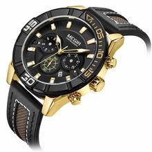 MEGIR Chronograph Creative Men Sport Watch Fashion Army Military Quartz Wrist Watches Clock Relogio Masculino 2066 Saat