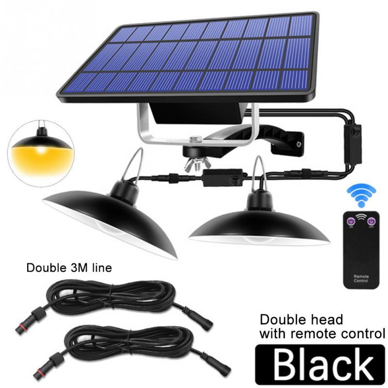 Balcony IP65 Waterproof Storage Room Home Emergency Outdoor Indoor Shed Lamp Solar Pendant Lights Remote Control Garden Hanging
