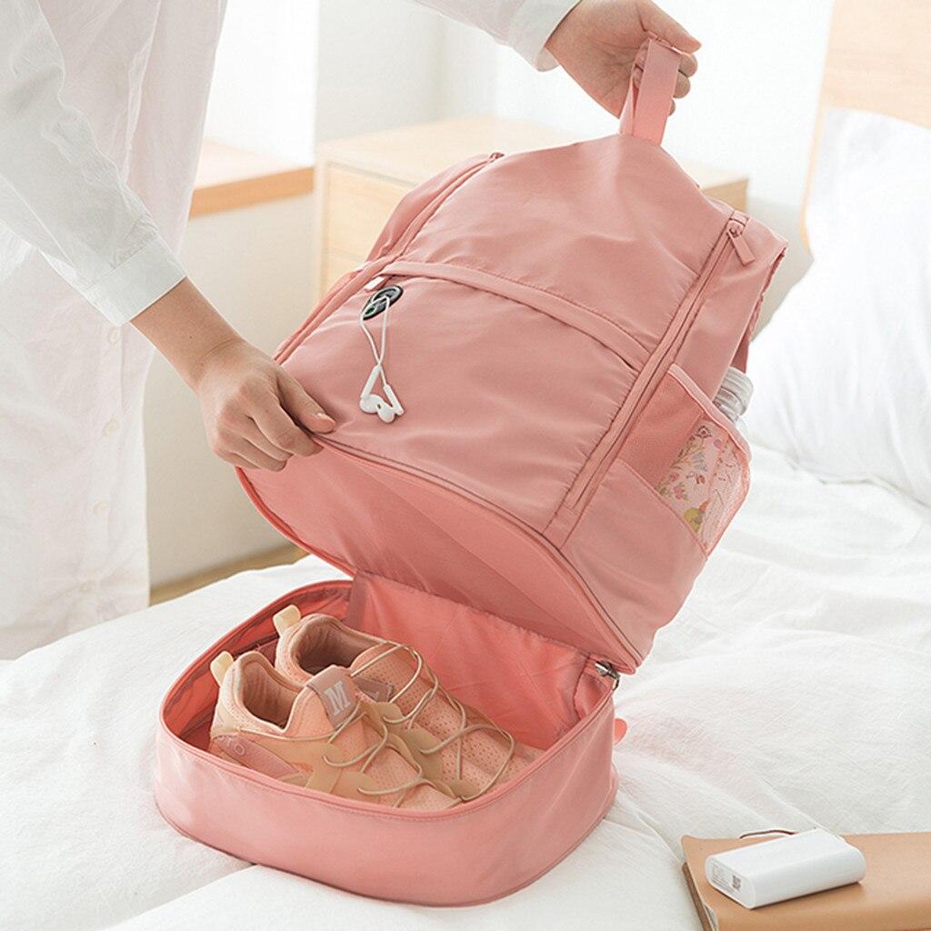 Spor ve Eğlence'ten Spor Çantalar'de Çok fonksiyonlu spor çantası büyük kapasiteli kuru ve ıslak ayırma spor çanta omuz askılı çanta çift çanta seyahat düz # TX title=