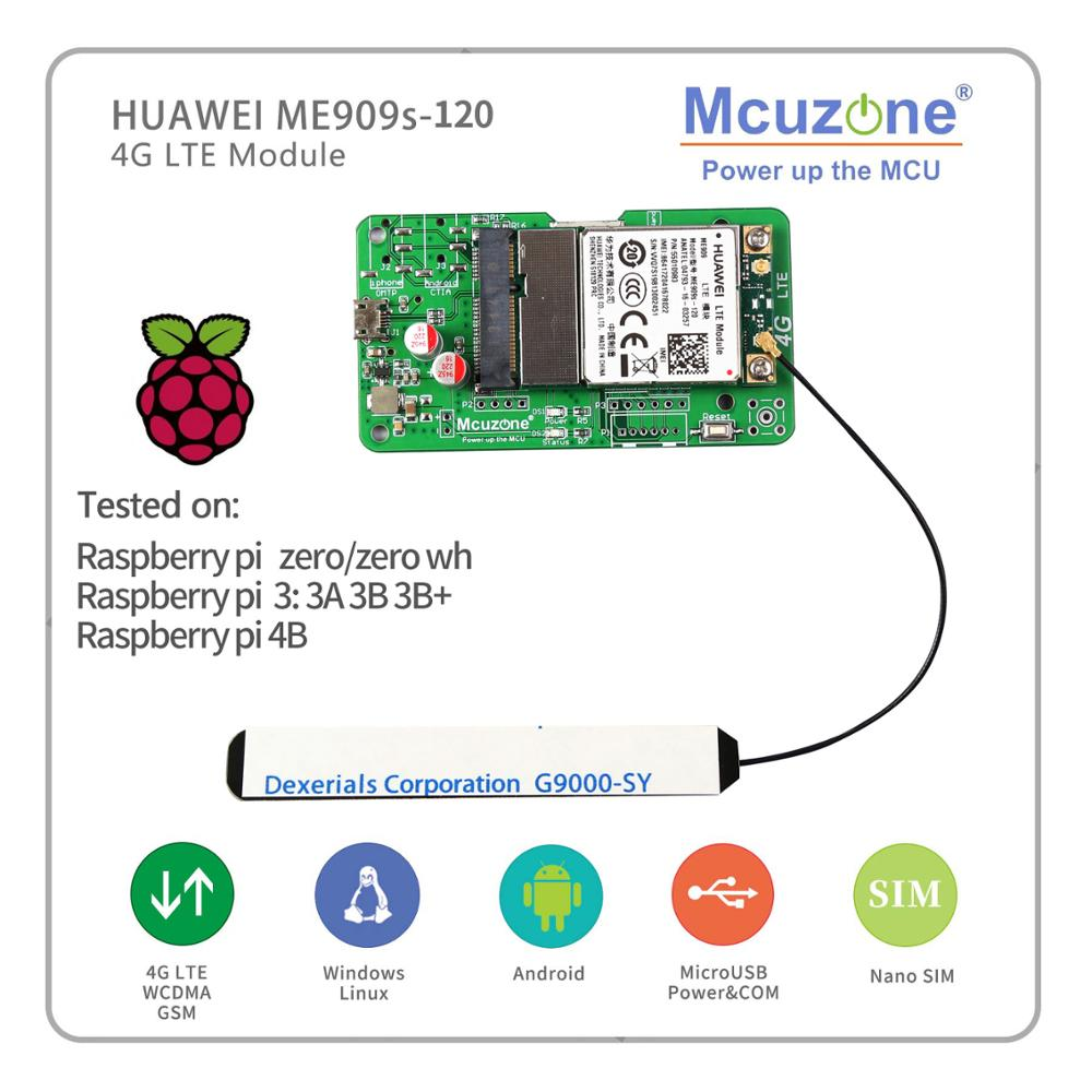 HuaWei ME909s-120/821a 4G LTE Module For Raspberry Pi Zero 3B+ 4  RK3399 Linux Windows Android 3308 Nanopc T4 TEXT Messaging