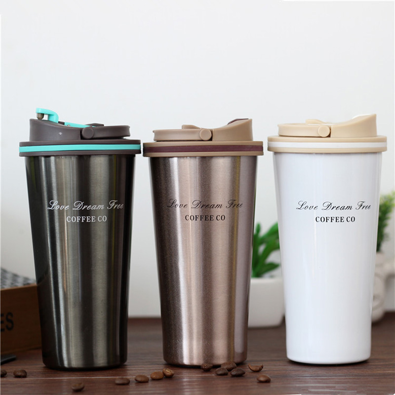 Clearance Sale Thermos Mug Coffee Cup with Lid Thermocup Seal Stainless Steel Vacuum Flasks ThermosesThermo Water Bottle