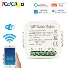 Smart Home WIFI interruttore interruttore interruttore 1gang 220V ~ 240V Smart Life/Tuya APP telecomando lavora con Alexa Echo Google Home
