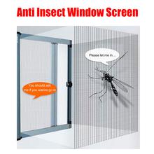 Przeciw komarom owad mucha DIY siatka do okien netto siatka okienna do okna drzwi i Patio ochrona ekranu Przeciw komarom owad mucha DIY siatka do okien netto siatka okienna do okna tanie tanio Okno Drzwi i okna ekrany ZC-05 Z włókna szklanego Anti-mosquito in spring and summer Easy to install disassemble clean
