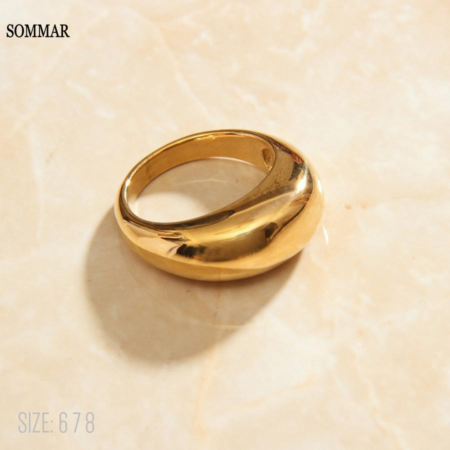 SOMMAR модное ювелирное изделие, Очаровательные золотые подвески, размер 6, 7, 8, богиня, кольцо с геометрическим опалом, летние ювелирные издели...