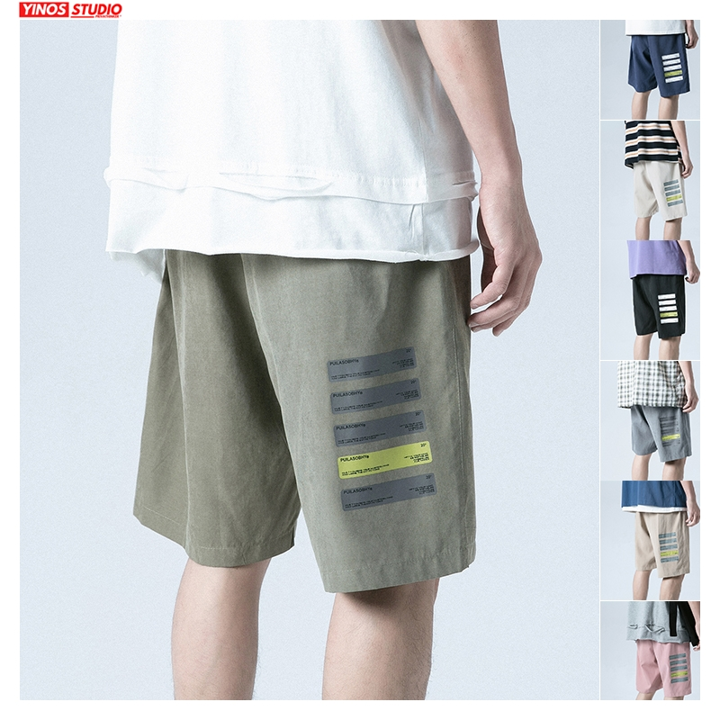 Dropshipping Men Summer 7 Colors Shorts Men's 2020 Knee Length Korean Loose Harajuku Sweatpants Male Fitness Casual Shorts 3XL