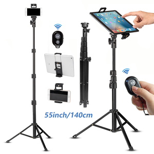 Image 1 - Cell Phone Selfie Stick Travel Tripod Stand for Mobile Phones iPhone iPAD HUAWEI Xiaomi Redmi Tablets wireless Bluetooth Portabl