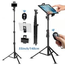โทรศัพท์มือถือ Selfie Stick ขาตั้งกล้องสำหรับโทรศัพท์มือถือ iPhone iPad HUAWEI Xiaomi Redmi แท็บเล็ตไร้สายบลูทูธแบบพกพา