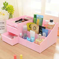 Cosmetic Storage Box Drawer Desktop Plastic Makeup Dressing Table Skin Care Rack House Organizer Container Mobile Phone Sundries