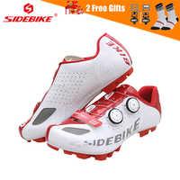 SIDEBIKE Breathable Mountain Bike Shoes Men Self-lock MTB Bicycle Cycling Road Shoes Anti-slip Wear-resisting Cycle Sneakers
