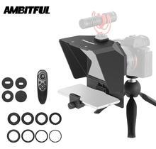 Mini Teleprompter Draagbare Inscriber Mobiele Teleprompter Artefact Video Met Afstandsbediening Voor Telefoon En Dslr Opname